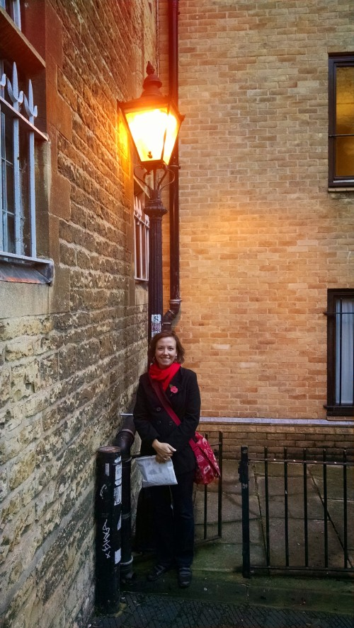 Me with a lamp-post in Narnia-- I mean, Oxford